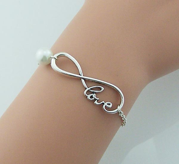 Infinite Bracelet Pearl Charm Love Jewelry Wedding Gifts Christmas